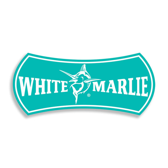 White Marlie Large Turquoise Sticker