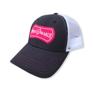 White Marlie Navy and Pink Trucker Hat