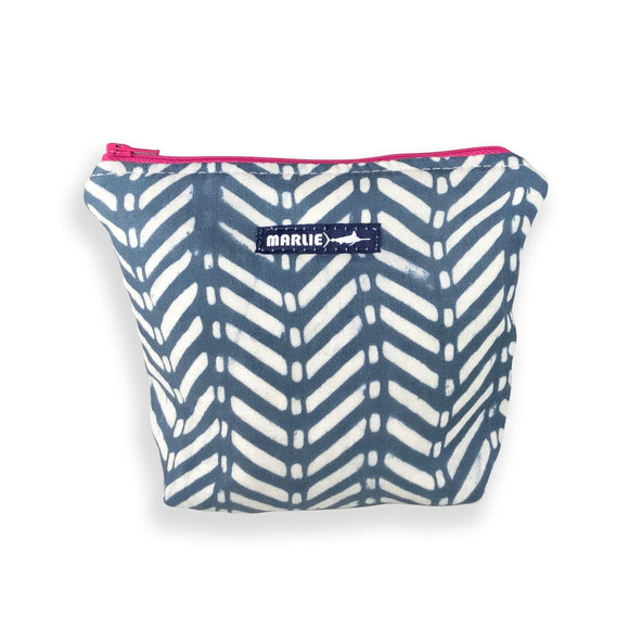 White Marlie Navy and White Chevron Small Bag