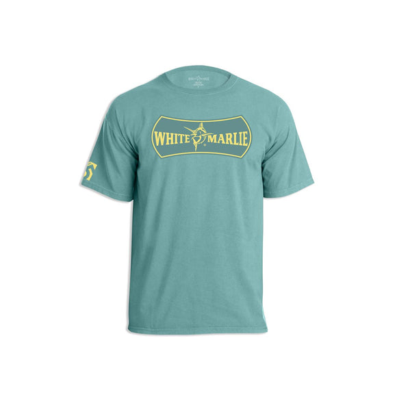 White Marlie Ocean Green Short Sleeve T-Shirt