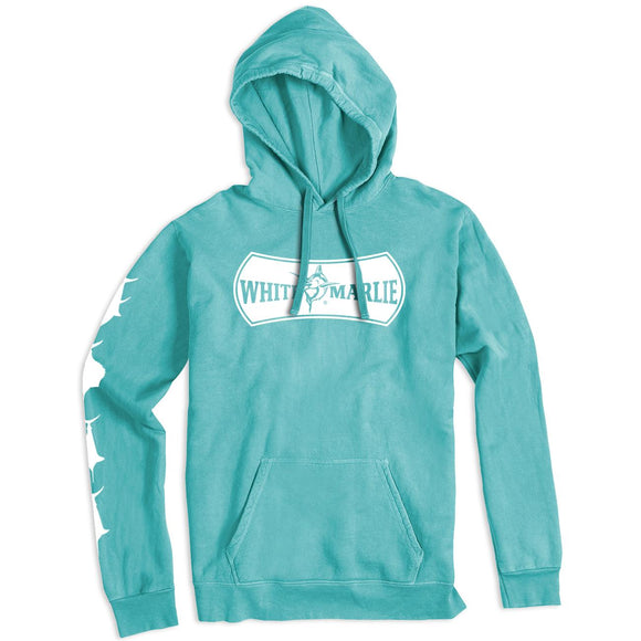 White Marlie Sea Foam Green Hoodie