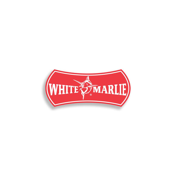 White Marlie Small Red Sticker