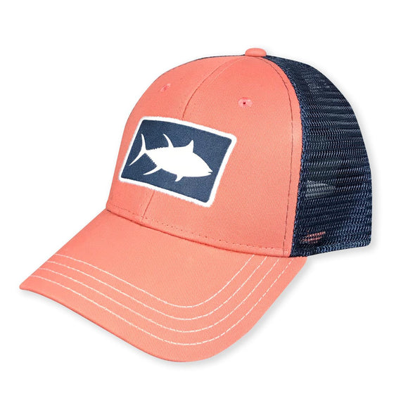 White Marlie Youth Nantucket Red Tuna Trucker Hat