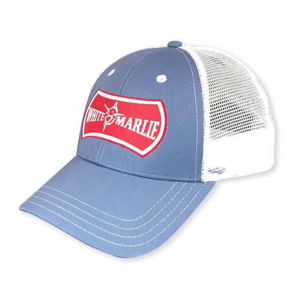 White Marlie Youth Slate Trucker Hat