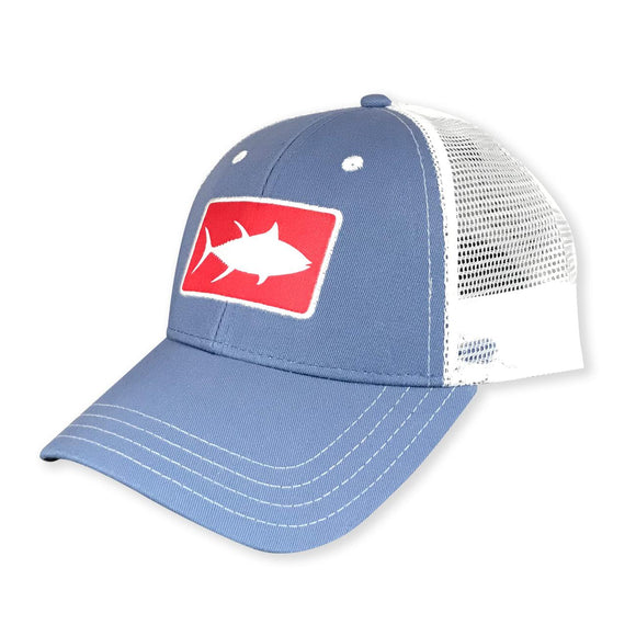 White Marlie Youth Slate Tuna Trucker Hat
