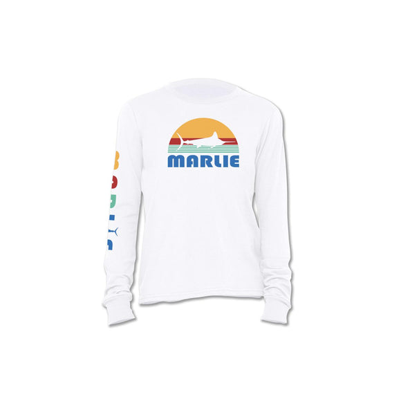 Long Sleeve T-Shirt Youth White by White Marlie