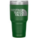 Resting Mare Face 30 Ounce Vacuum Tumbler