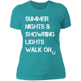 Summer Nights Showring Lights Walk On NL3900 Next Level Ladies' Boyfriend T-Shirt