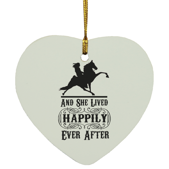 HAPPILY EVER AFTER (TWH Performance) Blk SUBORNH Heart Ornament