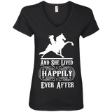 HAPPILY EVER AFTER (TWH Performance) wht 88VL Ladies' V-Neck T-Shirt