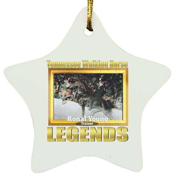 RONAL YOUNG (Legends Series) SUBORNS Star Ornament