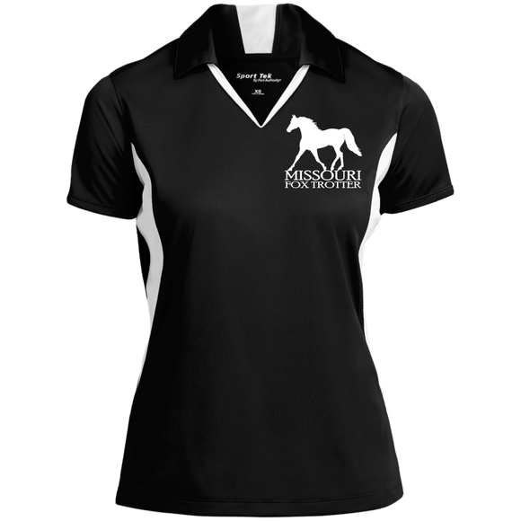 Missouri Fox Trotter LST655 Ladies' Colorblock Performance Polo
