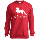 American Saddlebred Design 2 PC90Y Port and Co. Youth Crewneck Sweatshirt