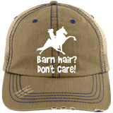 BARN HAIR, DONT CARE (TWH PERFORMANCE) 6990 Distressed Unstructured Trucker Cap