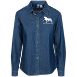 Tennessee Walking Horse (Pleasure) with letters LSP10 Port Authority Women's LS Denim Shirt