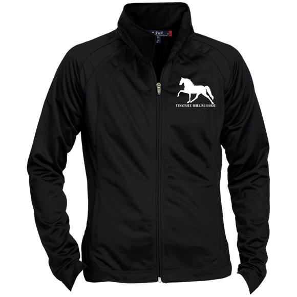 Tennessee Walking Horse (Pleasure) with letters LST90 Sport-Tek Ladies' Raglan Sleeve Warmup Jacket