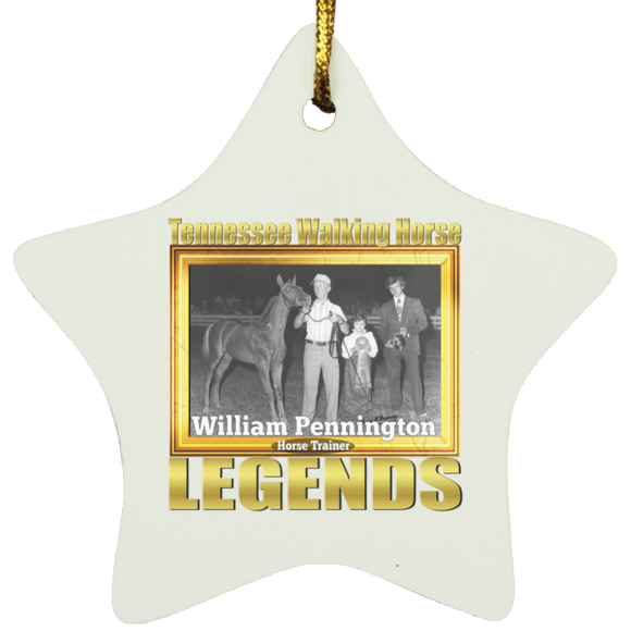 WILLIAM PENNINGTON (Legends Series) SUBORNS Star Ornament