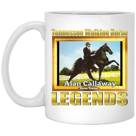 ALAN CALLAWAY (Legends Series) XP8434 11 oz. White Mug