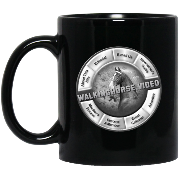 WALKINGHORSE.VIDEO BM11OZ 11 oz. Black Mug