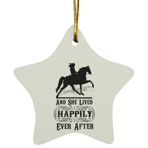 HAPPILY EVER AFTER (TWH Pleasure) Blk SUBORNS Star Ornament