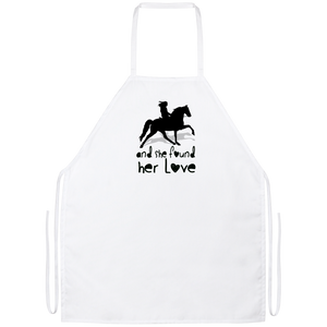 SHE FOUND HER LOVE (TWH pleasure)Bblack art Apron