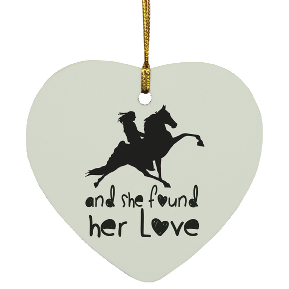 SHE FOUND HER LOVE (TWH performance) black art SUBORNH Heart Ornament