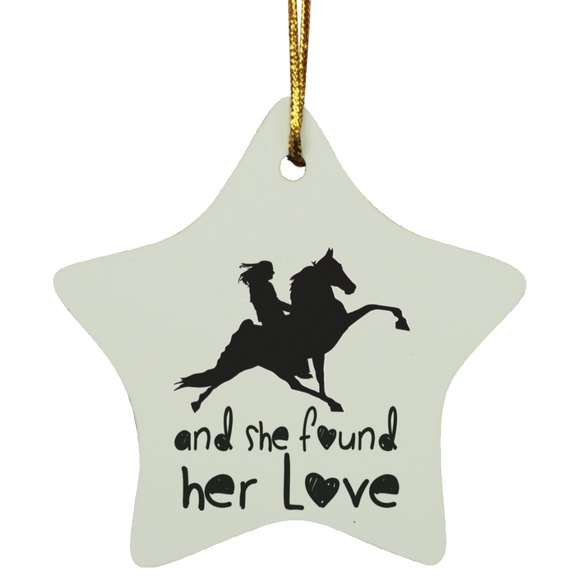 SHE FOUND HER LOVE (TWH performance) black art SUBORNS Star Ornament