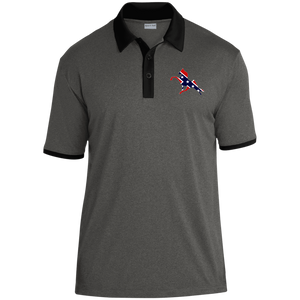 Rebel on The Rail ST667 Heather Contender Contrast Polo