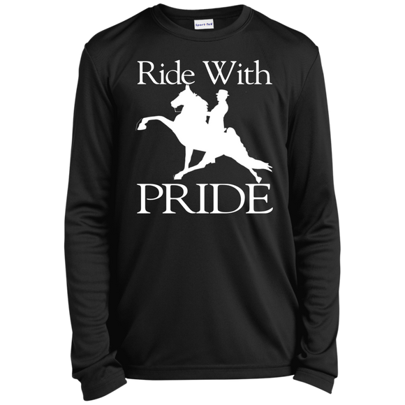 RIDE WITH PRIDE YST350LS Youth Long Sleeve Moisture-Wicking T-Shirt