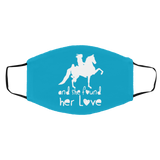 SHE FOUND HER LOVE (American Saddlebred) white art FMA Med/Lg Face Mask
