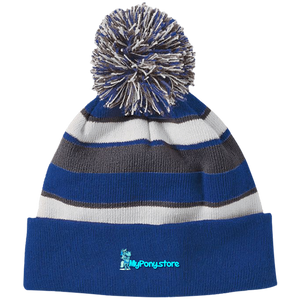 My Pony Store 223835 Holloway Striped Beanie with Pom