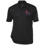 Rebel on The Rail ST695 Performance Textured Three-Button Polo