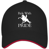 RIDE WITH PRIDE 3621 USA Made Structured Twill Cap With Sandwich Visor