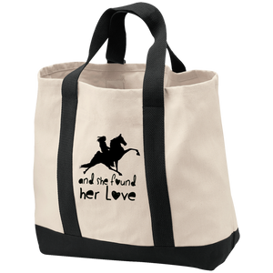 SHE FOUND HER LOVE (TWH performance) black art B400 2-Tone Shopping Tote