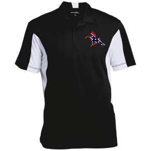 Rebel on The Rail ST655 Men's Colorblock Performance Polo