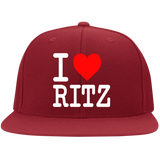 I LOVE RITZ 6297F Flat Bill Twill Flexfit Cap