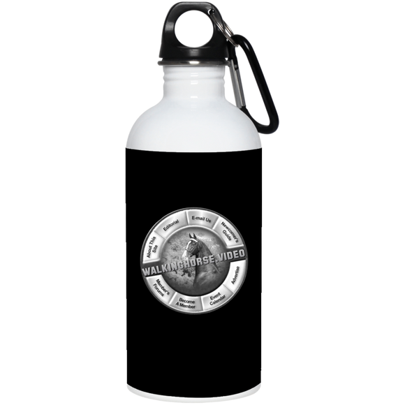 WALKINGHORSE.VIDEO 23663 20 oz. Stainless Steel Water Bottle