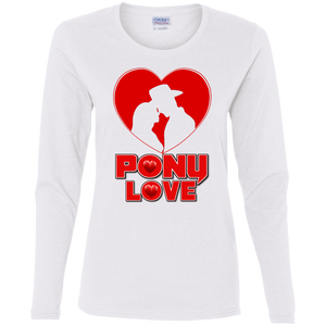 Pony Love G540L Gildan Ladies' Cotton LS T-Shirt