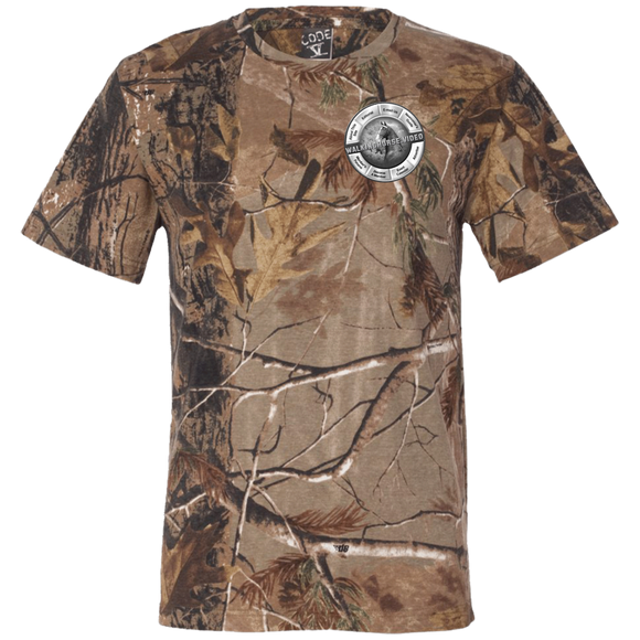 WALKINGHORSE.VIDEO 3980 Short Sleeve Camouflage T-Shirt