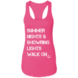 Summer Nights Showring Lights Walk On NL1533 Next Level Ladies Ideal Racerback Tank