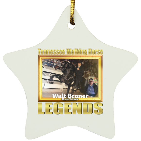 WALT BRUNER (Legends Series) SUBORNS Star Ornament