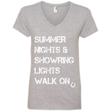 Summer Nights Showring Lights Walk On 88VL Anvil Ladies' V-Neck T-Shirt