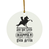 HAPPILY EVER AFTER (TWH Performance) Blk SUBORNC Circle Ornament