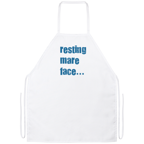 Resting Mare Face (slate blue) Apron