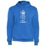 Keep Calm Real Men Buy Ponies (white) PC78H Port & Co. Core Fleece Pullover Hoodie