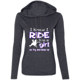 I RIDE LIKE A GIRL (TWH PERFORMANCE) 887L Ladies' LS T-Shirt Hoodie