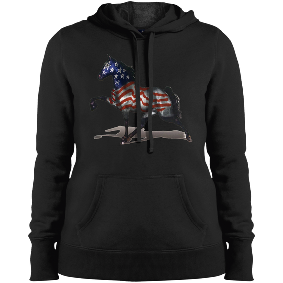 THE ALL AMERICAN HORSE LST254 Ladies' Pullover Hooded Sweatshirt