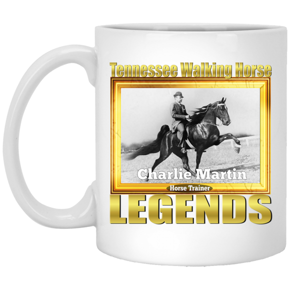 CHARLIE MARTIN (Legends Series) XP8434 11 oz. White Mug