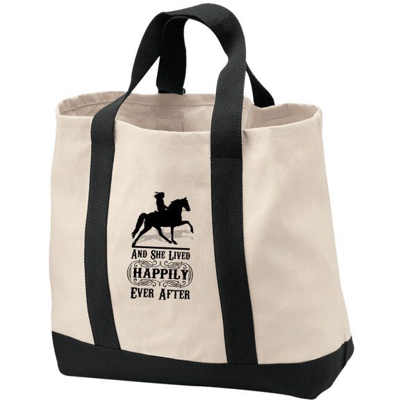 HAPPILY EVER AFTER (TWH Pleasure) Blk B400 2-Tone Shopping Tote