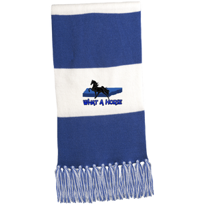 What A Horse 2020 STA02 Fringed Scarf